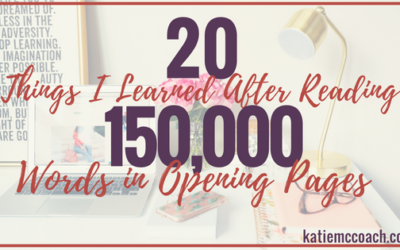 20 Things I Learned After Reading 150,000 Words in Opening Pages